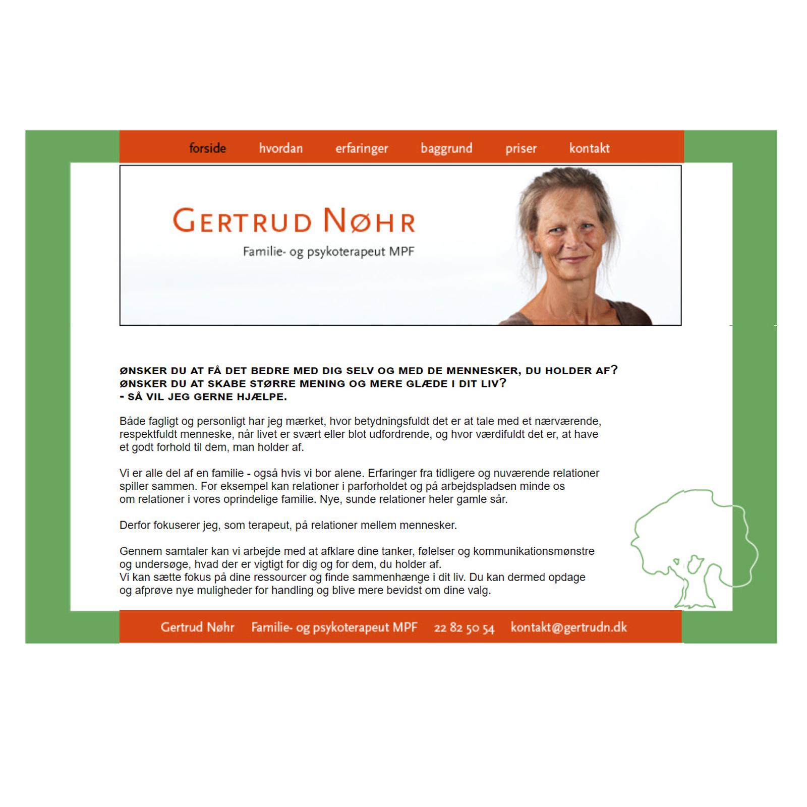 Gertrud Nøhr | Familie- og psykoterapeut MPF