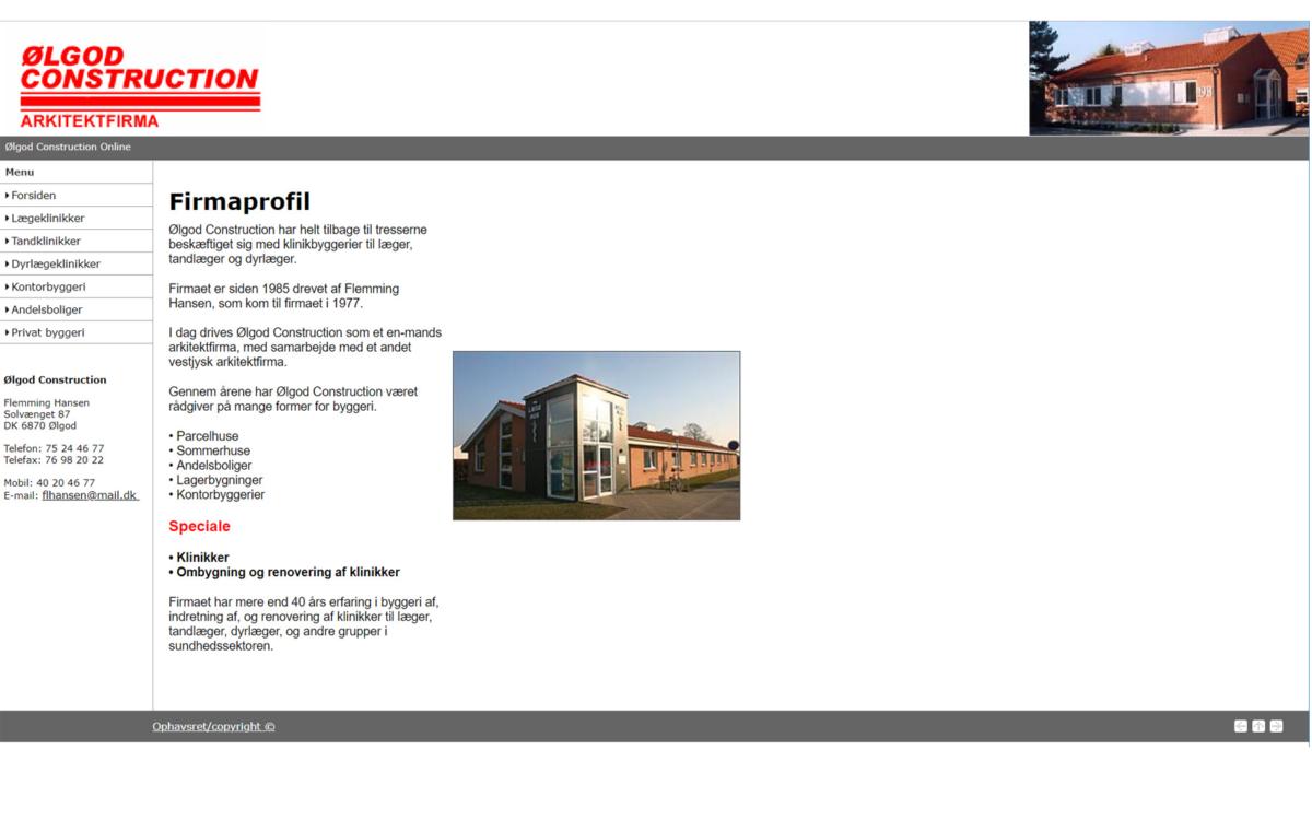 Arkitektfirma - Ølgod Construction